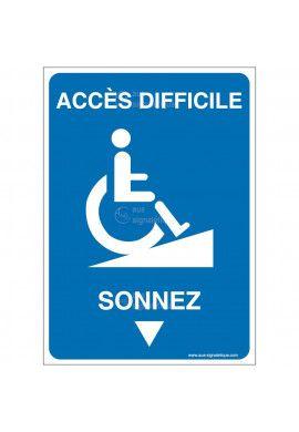 Panneau Accès difficile - Sonnez-AI
