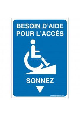 Panneau Besoin d'aide - Sonnez-AI