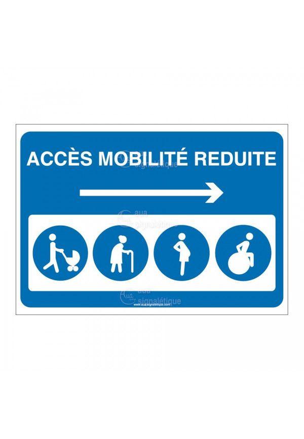 Panneau Accès mobilité réduite Droite - AP