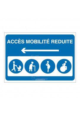 Panneau Accès mobilité réduite Gauche - AP