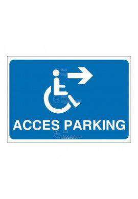Panneau Accès Parking Droite - AP
