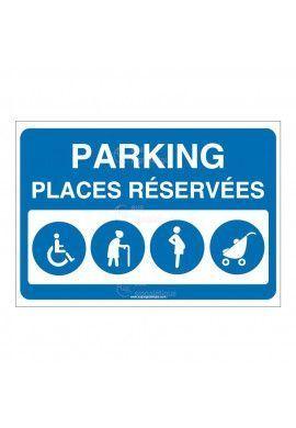 Panneau Parking places réservées - AP