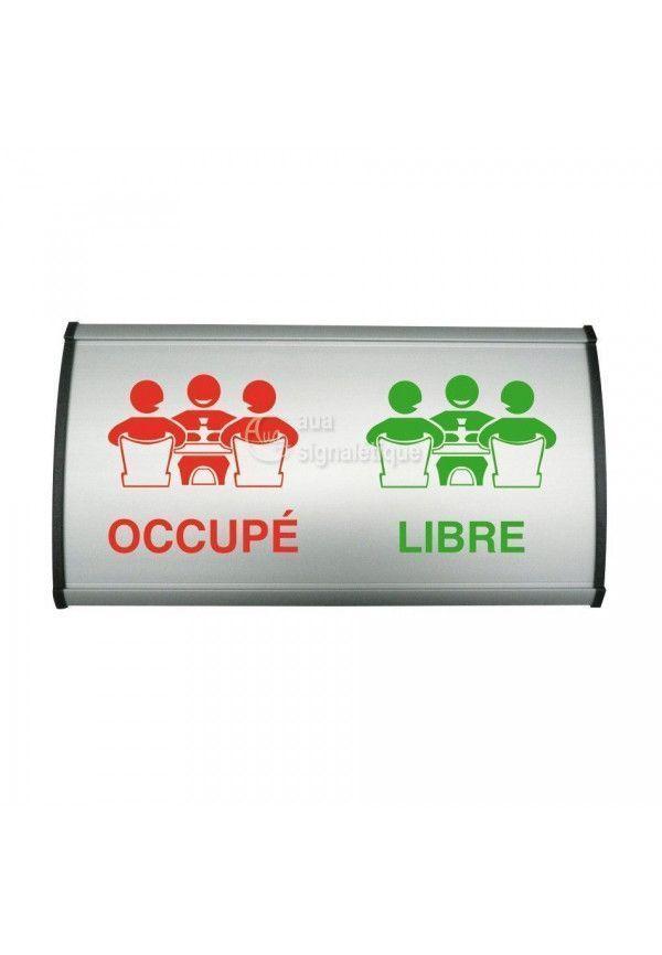 Plaque coulissante galbée Occupé/Libre - 300x148 mm