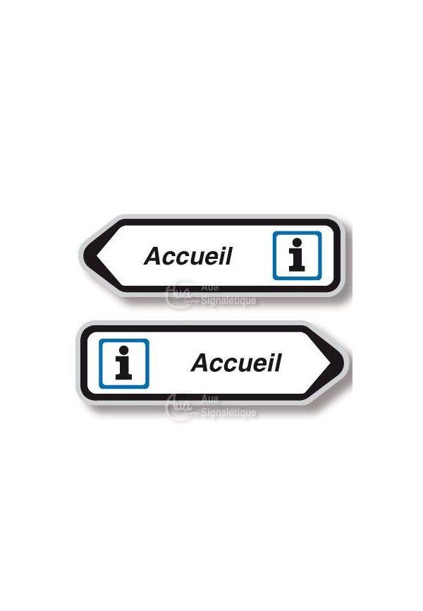 Panneau directionnel Flèche Accueil