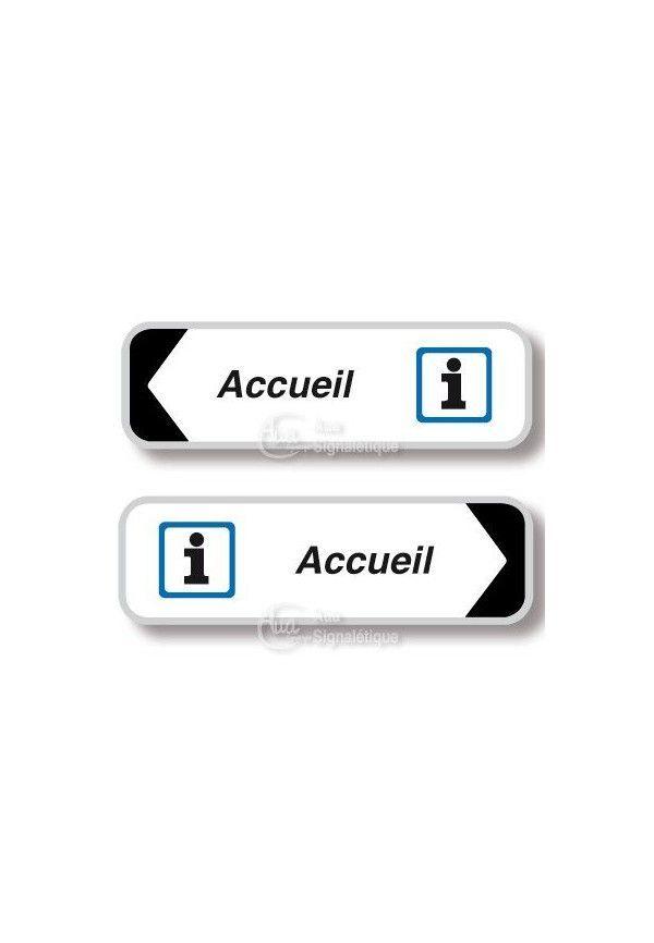 Panneau directionnel Rectangulaire Accueil