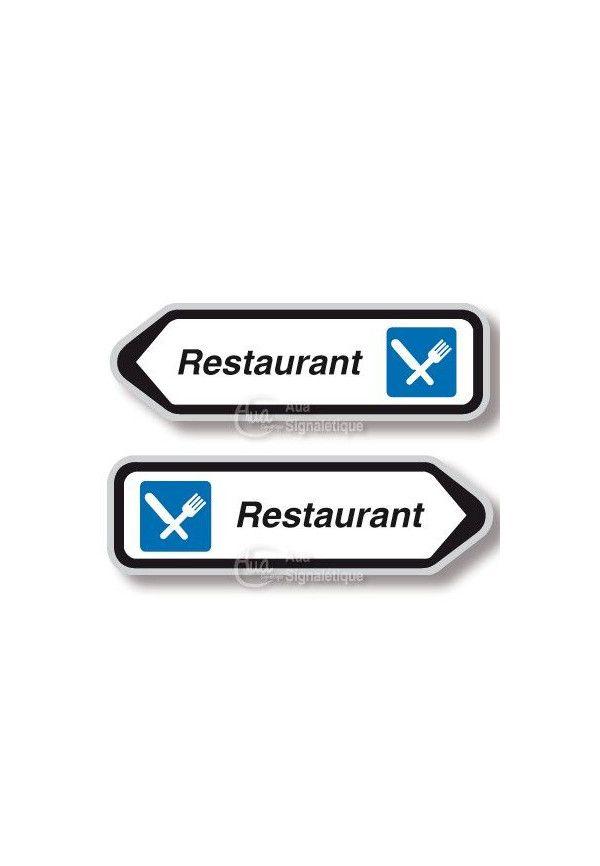 Panneau directionnel Flèche Restaurant