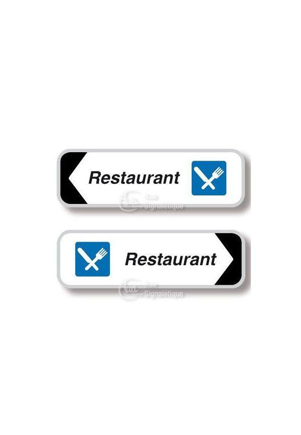 Panneau directionnel Rectangulaire Restaurant