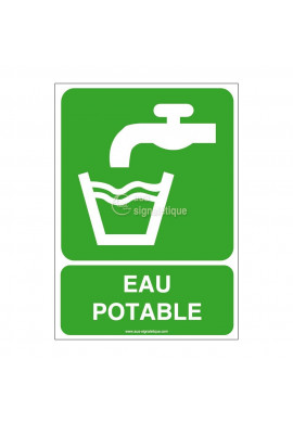 Panneau Eau Potable - AI