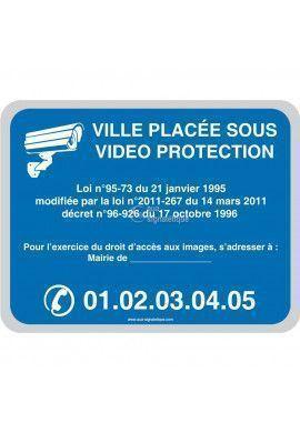 Ville placée sous vidéo protection - Personnalisable