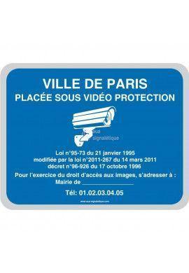 Ville placée sous vidéo protection V2 - Personnalisable