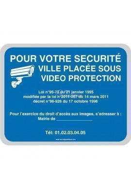 Pour votre sécurité ville placée sous vidéo protection - Personnalisable