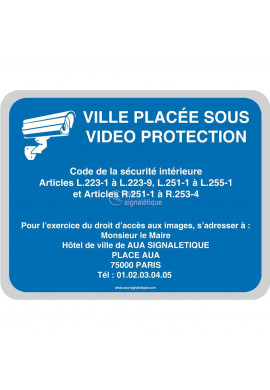 Ville placée sous vidéo protection V3 - Personnalisable