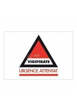 Panneau Vigipirate Urgence Attentat  - Horizontal