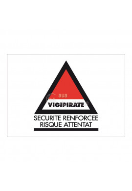Panneau Vigipirate Sécurité Renforcée - Horizontal