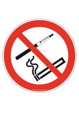 Panneau Interdiction de Fumer et Vapoter - R