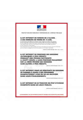 Consigne Restrictions vente d'alcool - B