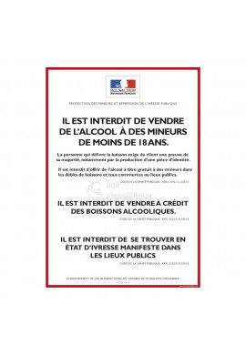 Consigne Restrictions vente d'alcool - D