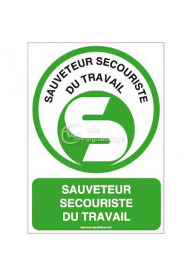 Panneau Sauveteur Secouriste du Travail Vertical