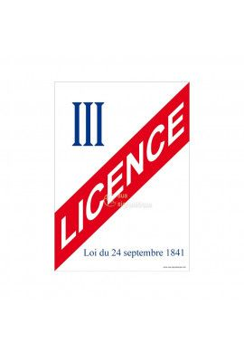 Affiche Licence 3