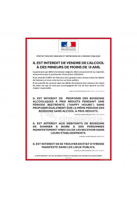 Consigne Restrictions vente d'alcool - A