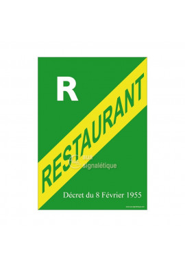 Affiche Licence Restaurant R
