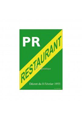 Affiche Licence Restaurant PR