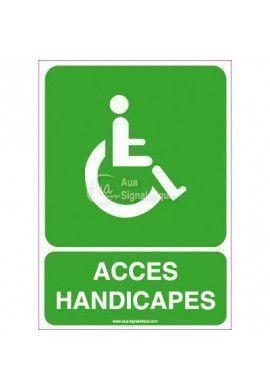 Panneau Accès Handicapés Vertical
