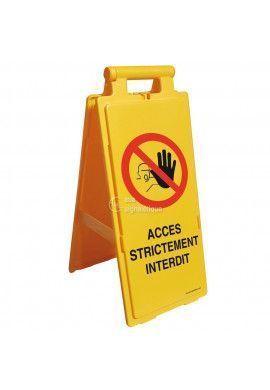 Balise Chevalet de signalisation accès strictement interdit  - V2