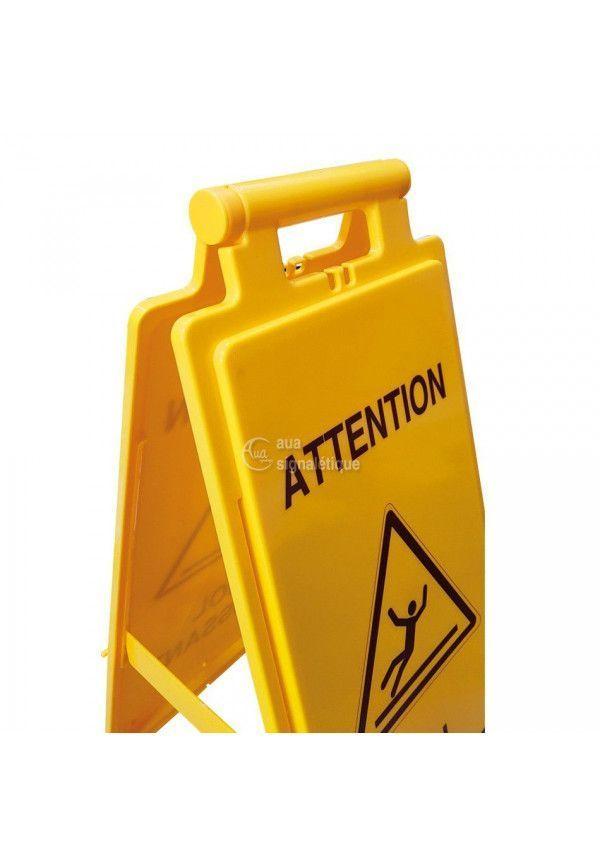 Balise Chevalet de signalisation casque de protection obligatoire - V2