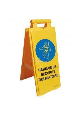 Balise Chevalet de signalisation harnais de sécurité obligatoire - V2