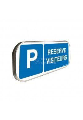 Parking réservé visiteurs - Panneau aluminium type routier