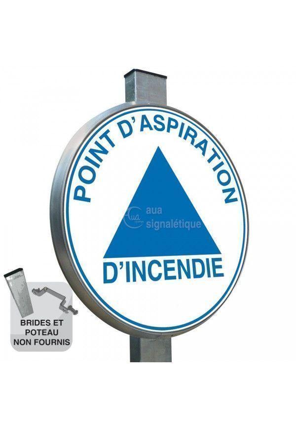 Point D'Aspiration Incendie - Panneau type routier avec rebord