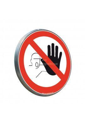 Accès interdit aux personnes non autorisées - Panneau type routier avec rebord