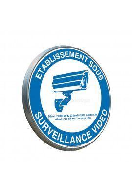 Etablissement Sous Surveillance Vidéo - Panneau type routier avec rebord