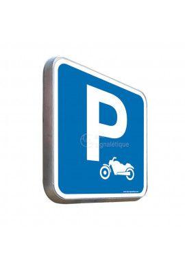 Parking Moto - Panneau Type Routier Avec Rebord