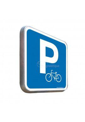 Parking Vélos - Panneau Type Routier Avec Rebord