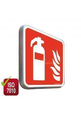 Extincteur d'incendie F001 - Panneau Type Routier Avec Rebord