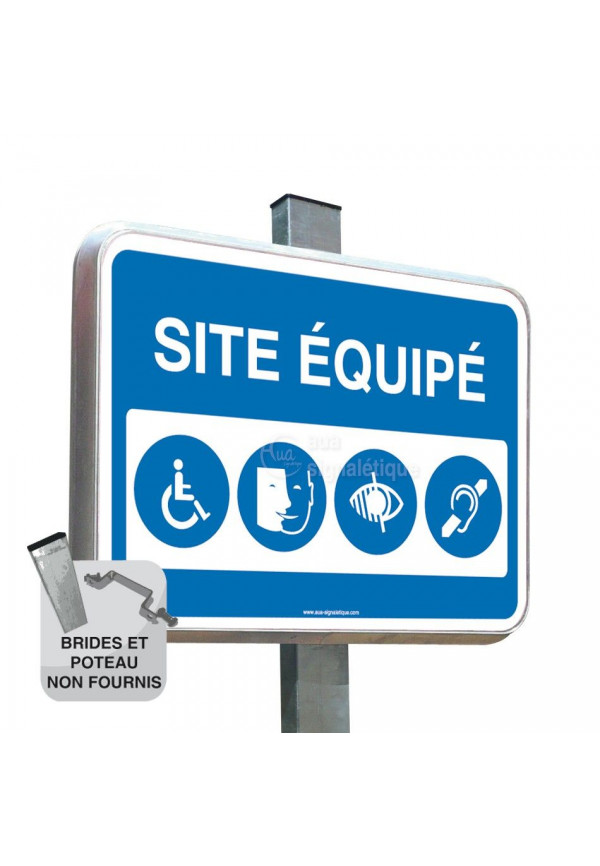 Site Equipé - Panneau Type Routier Avec Rebord