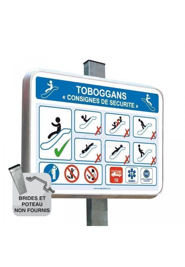 Sécurité Toboggan - Panneau Type Routier Avec Rebord