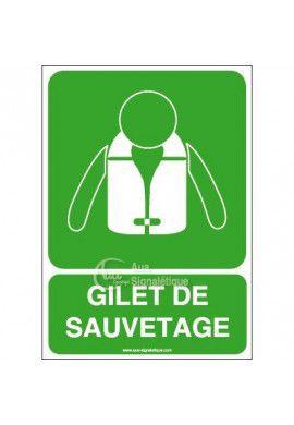 Panneau Gilet de Sauvetage - Verticale