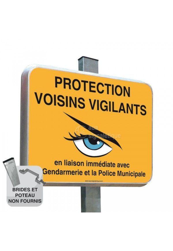 Voisins Vigilants - Panneau Type Routier Avec Rebord