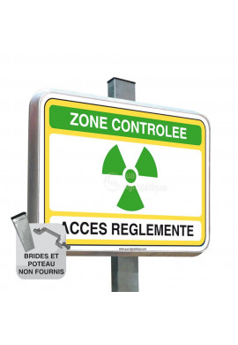 Zone Controlée - Panneau Type Routier Avec Rebord