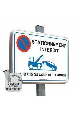 Stationnement Interdit - Panneau Type Routier Avec Rebord