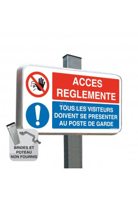 Routier - Panneau duo Accès Réglementé Visiteurs