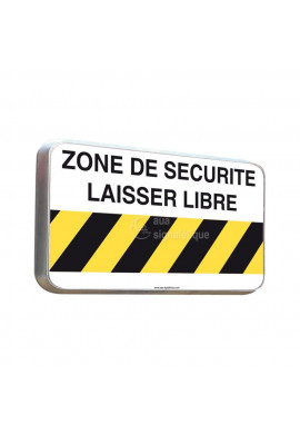 Routier - Panneau Zone de Sécurité Laisser Libre