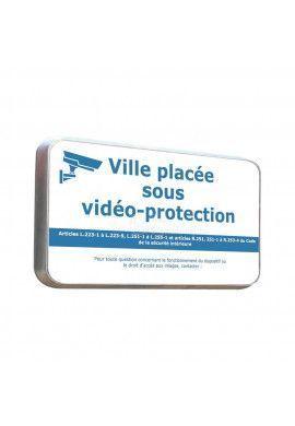 Routier - Panneau Ville Sous Vidéo Protection