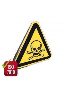 Danger, Matières toxiques ISO W016 - Panneau Type Routier Avec Rebord