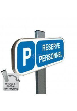 Parking Réservé Personnel - Panneau aluminium type routier