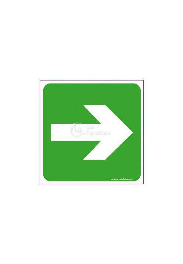 Panneau Flèche Directionnelle Droite