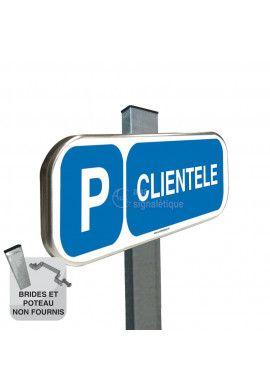 Parking Clientèle - Panneau aluminium type routier